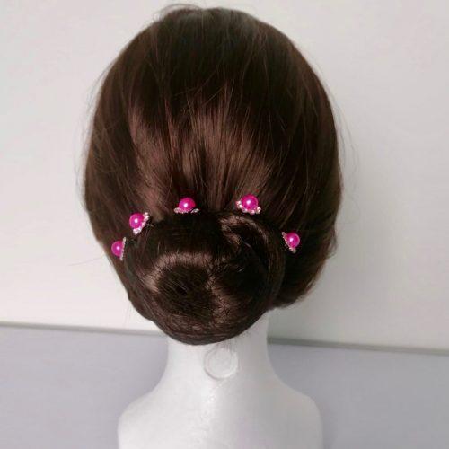 Épingle à Cheveux Fleur Fushia