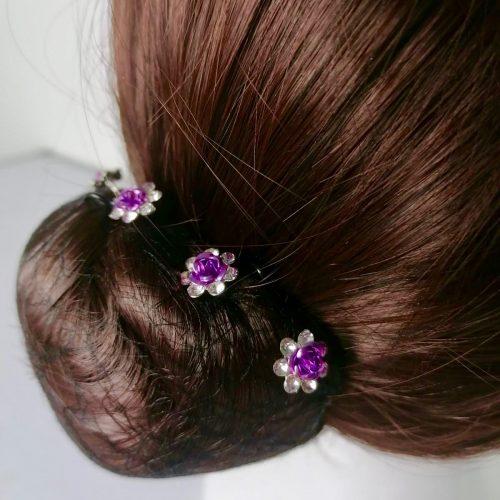 Épingle à Cheveux Fleur Violette