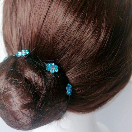 Épingle à Cheveux Fleur Turquoise