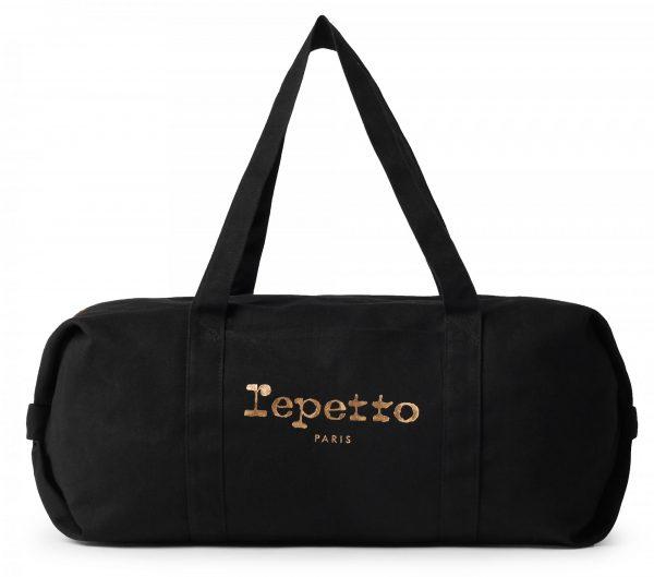 Le Sac Polochon en toile Taille L Repetto est un classique de la collection sacs de danse. Sa forme ronde et pratique offre une utilisation idéale pour la danse. comme pour la ville. Un Cadeau de Noel parfait!