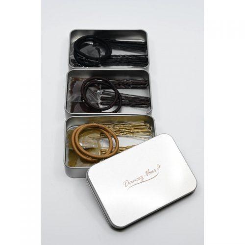 kit Chignon de danseuse, filets, épingles et élastiques, tout le nécessaire pour réaliser un beau chignon de ballerine pour la danse classique