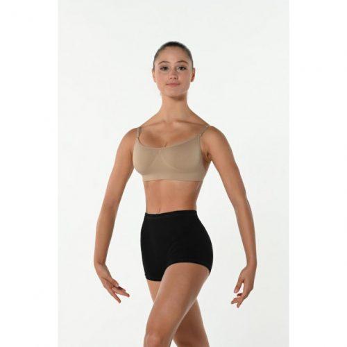 Short pour la danse ou Yoga Ce Shortest confortable et permet une grande liberté de mouvements. Ce short possède une taille élastiquée qui permet un bon maintien. Il se porte avant et après chaque cours de Danse, pendant l'échauffement à la barre et même pendant les cours de barre à terre.